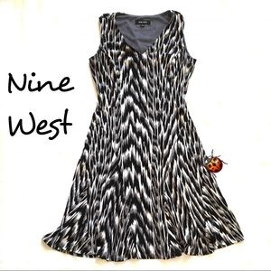 Nine West Poly Knit Dress Fit Flare Size 2